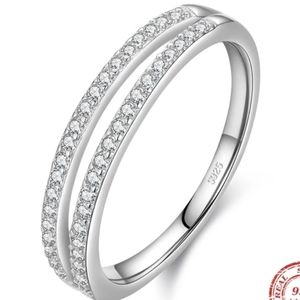 925 Sterling Silver Double Band Ring